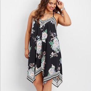 Maurice's Floral Hanky Hem Dress size 3X
